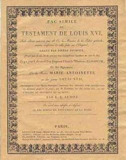 Le testament de Louis XVI par Louis XVI