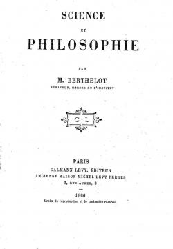 Science et philosophie par Marcellin Berthelot