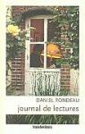 Journal de lectures : 1999-2006 par Rondeau