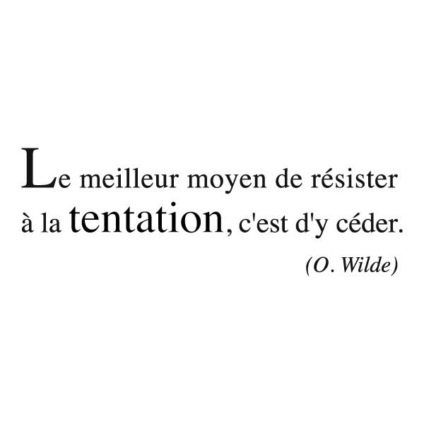 Citation Gourmandise Oscar Wilde
