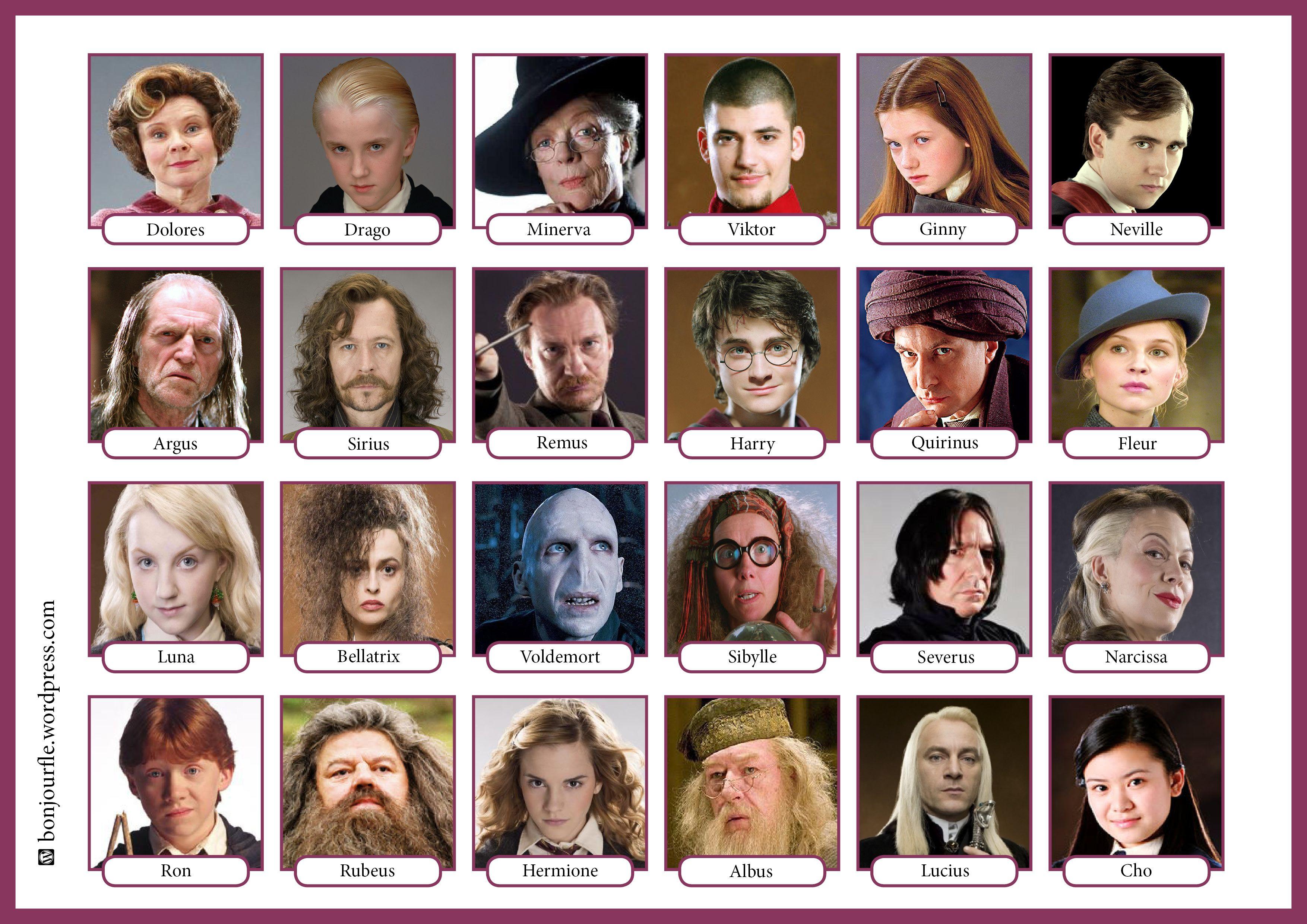 гарри поттер все герои и их названия всех